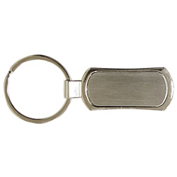 Rectangular Metal Keyring REF J10012