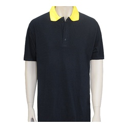 BLack Yellow Poloshirt