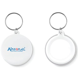 Small key button keyring
