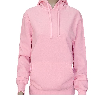Ladies Pink Hooded Kangaroo Sweatshirts
