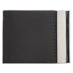 Steel Card Holder With Leather Case REF 1101